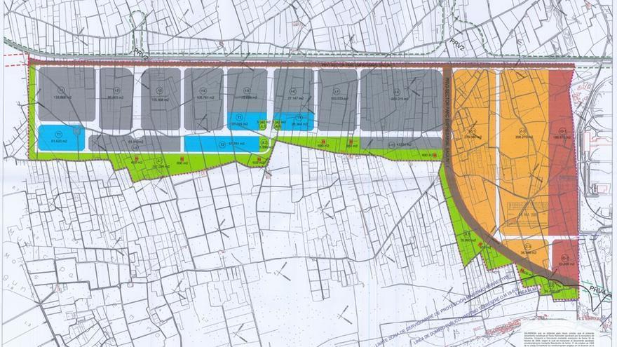 Plano cartográfico de Parc Sagunt I