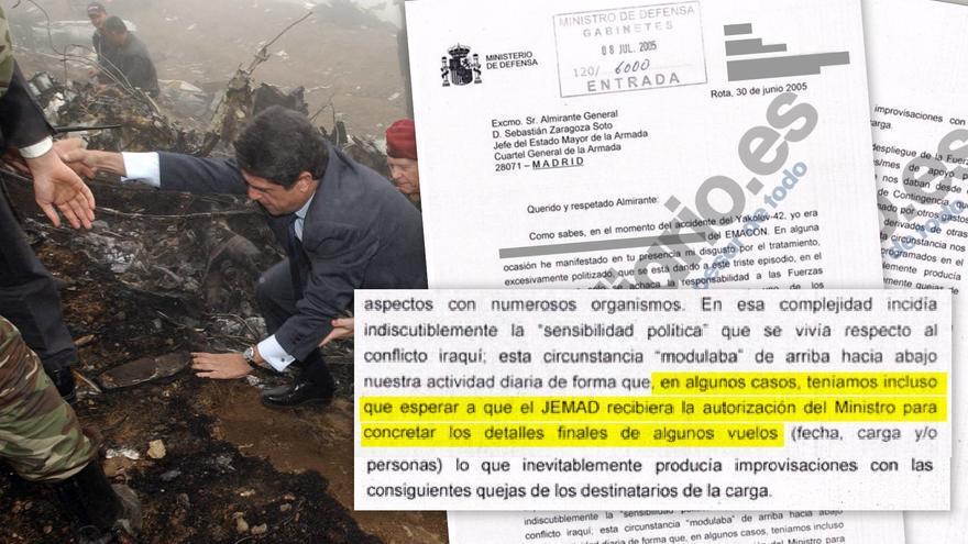 Extracto de la carta dirigida al jefe del Estado Mayor de la Armada sobre el Yak-42