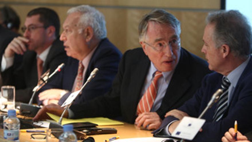 Eurodiputados españoles durante la visita de la Comisión de Bruselas