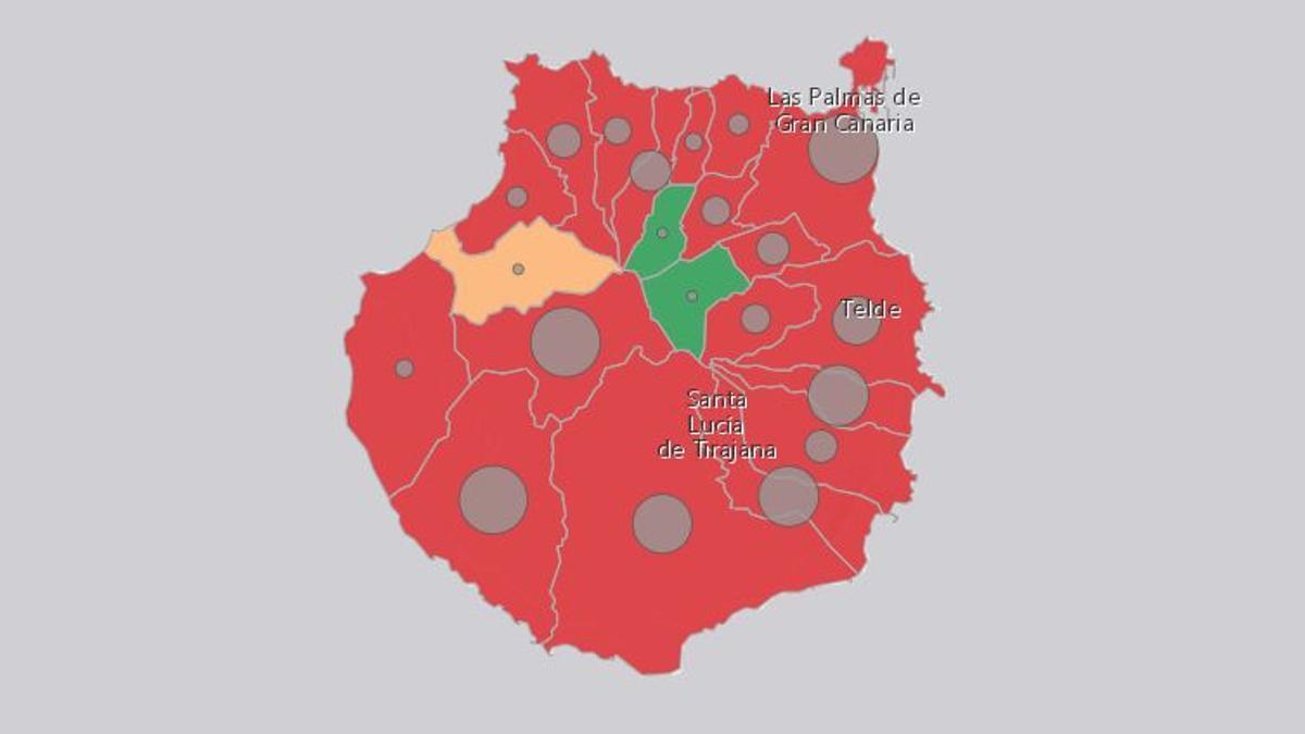Casos de coronavirus en la isla de Gran Canaria este 21 de julio