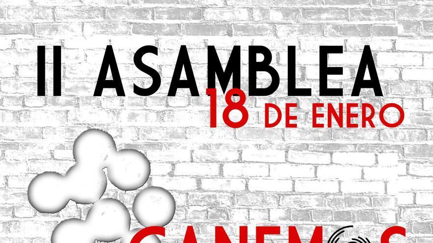 Cartel de la II Asamblea de Ganemos la Región de Murcia