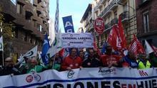 Más de 150 funcionarios de prisiones aragoneses participaron en la manifestación que tuvo lugar en madrid el 12 de diciembre