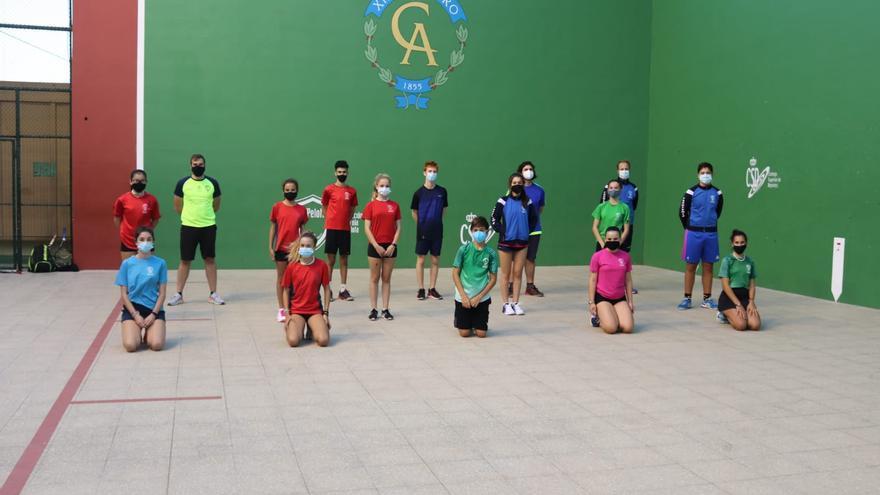 El Círculo acoge con todas las garantías sanitarias el Campeonato de Canarias Infantil-Cadete de frontenis