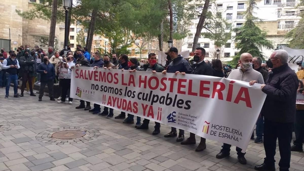 Protesta en Albacete