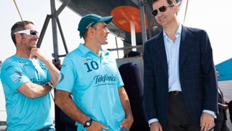 Príncipe De Asturias Felipe Con Xabi Fernández Y Pepe Ribes Team Telefonica