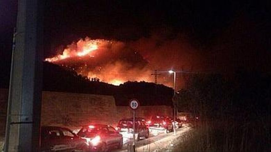 Incendio en Gilet (Valencia)