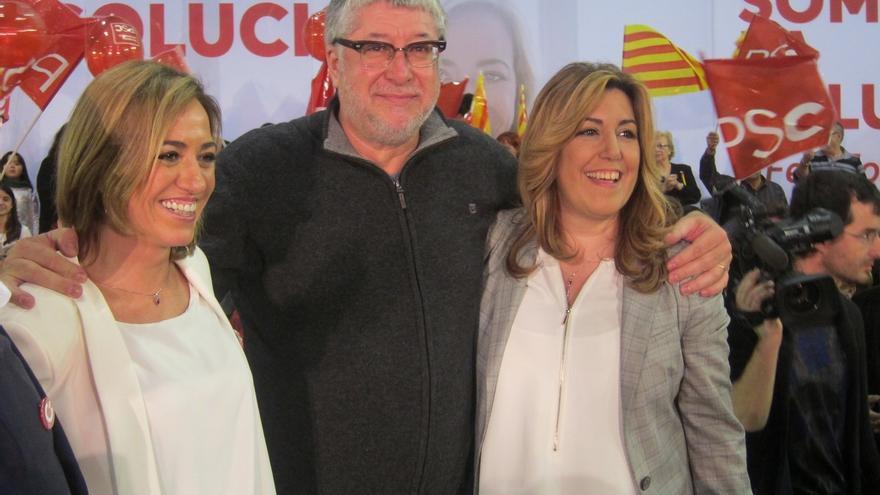 """Chacón dice en el Baix Llobregat que sólo el PSOE es el cambio: """"Ni naranja ni lila"""""""