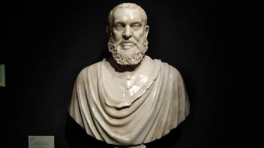Busto de Juanelo Turriano cedido por el Museo de Santa Cruz