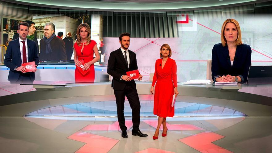 Los presentadores de informativos de Telemadrid