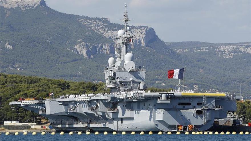 Un portaaviones francés se suma a la operación contra el EI en Irak