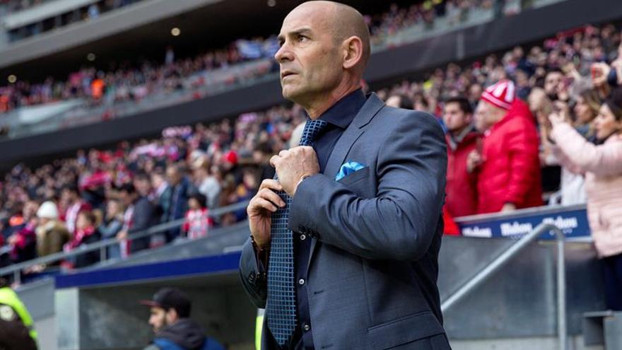 El entrenador de Las Palmas, Paco Jémez, en su partido ante el Atlético de Madrid.