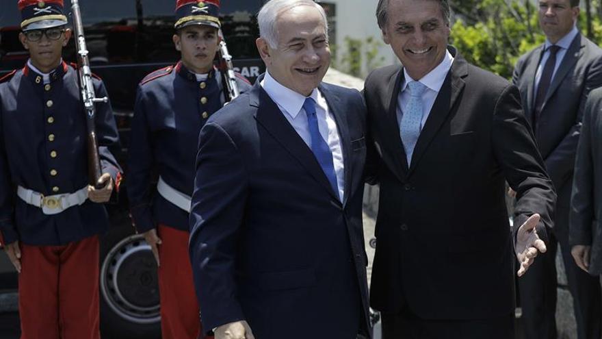Netanyahu asegura que Bolsonaro le anunció el traslado de la embajada a Jerusalén