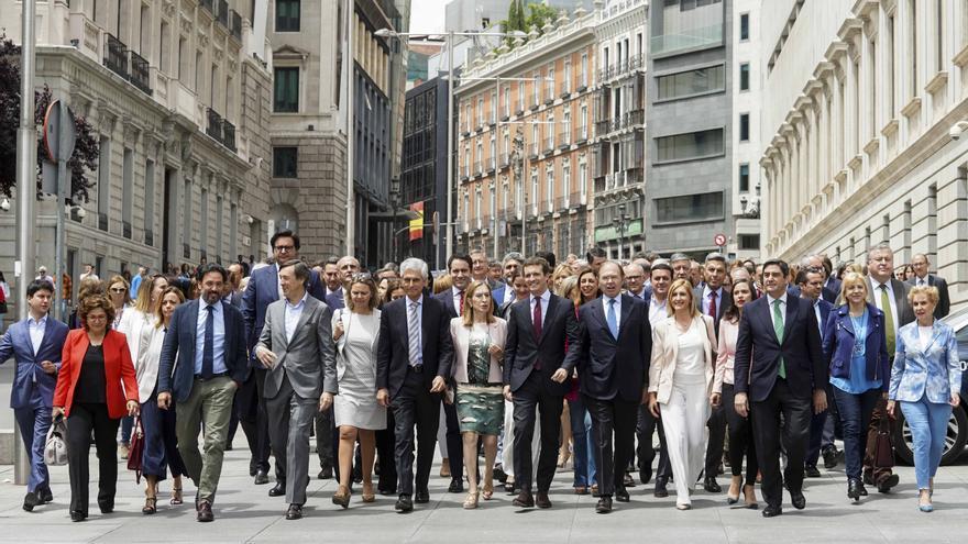 El Grupo Parlamentario Popular, el pasado lunes.