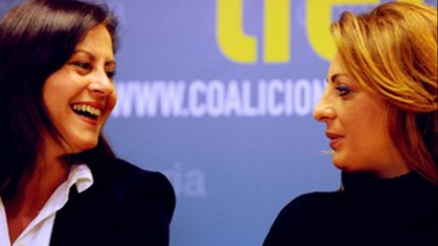 Claudina Morales (izquierda), en el acto de este miércoles. (ACFI PRESS)