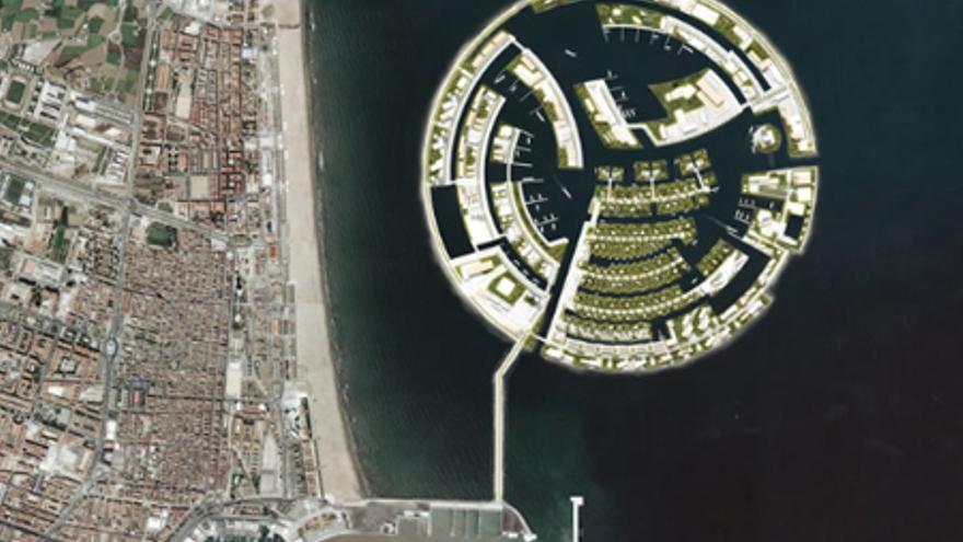Figuración virtual de Isla Luna.