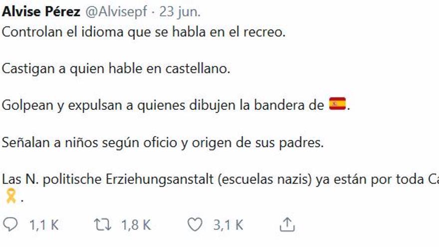 Comparación entre prácticas nazis y el sistema educativo en Cataluña, por @AlvisePerez