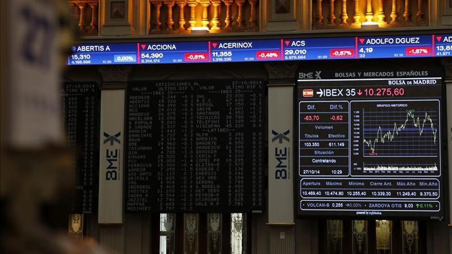La Bolsa española baja el 0,21 por ciento, pero logra mantener los 10.200 puntos