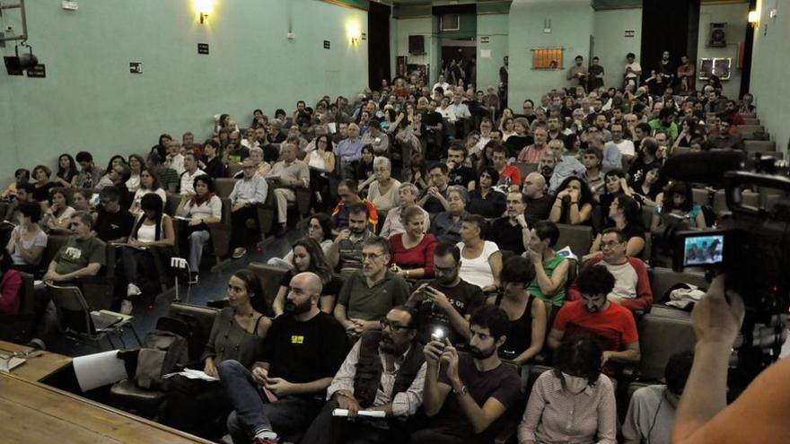 Asamblea plenaria de Ganemos Madrid el pasado mes de septiembre. / Miguel Álvarez (@miguelenlared)
