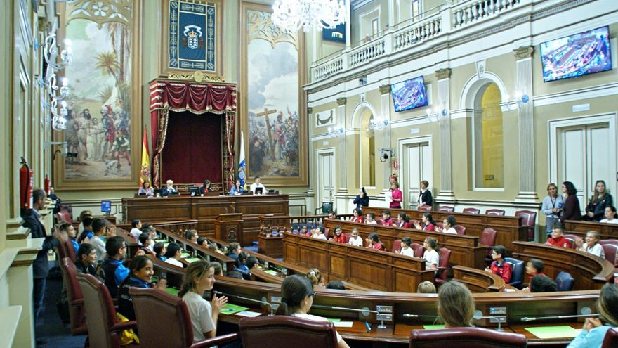 La Cámara, durante la sesión de 'Diputados por un día'