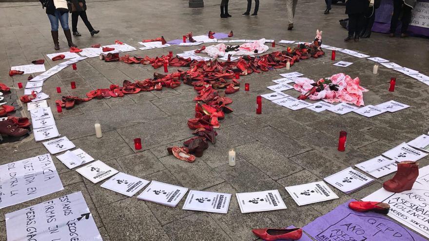 Huelga de hambre en la Puerta del Sol contra la violencia machista