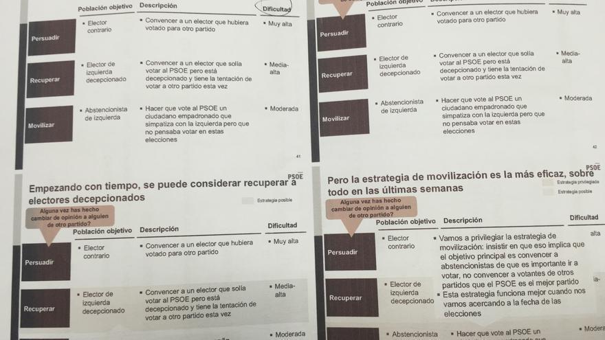 Los objetivos de los voluntarios del PSOE