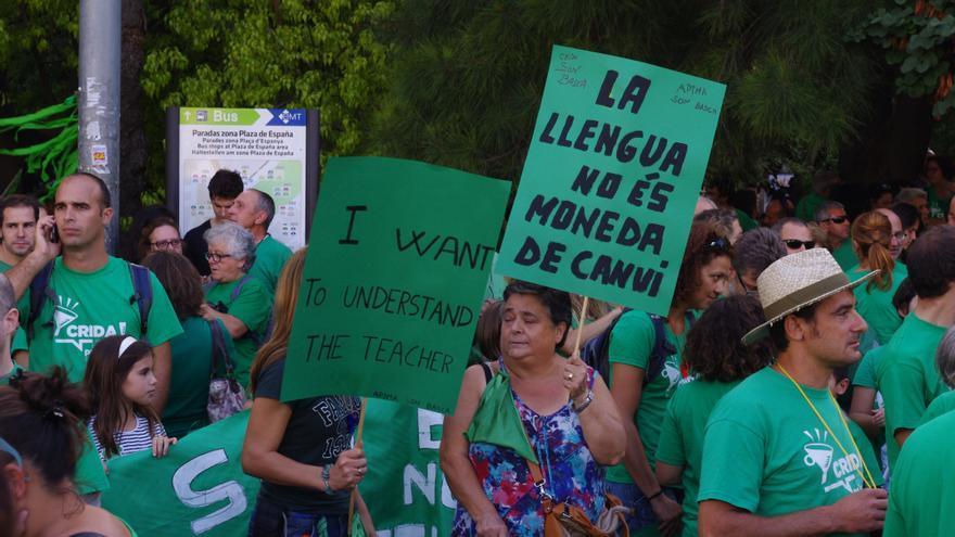 Algunos de los manifestantes durante la protesta