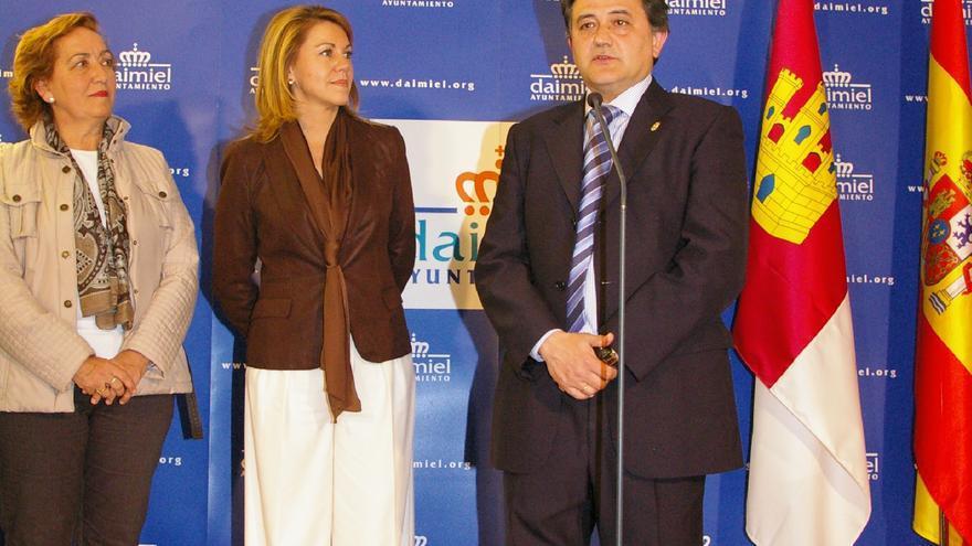 Cospedal junto al alcalde de Daimiel, Leopoldo Serra