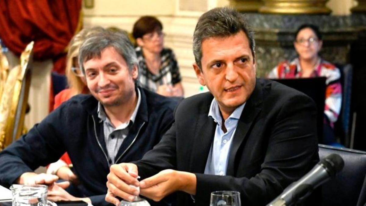Máximo Kirchner y Sergio Massa