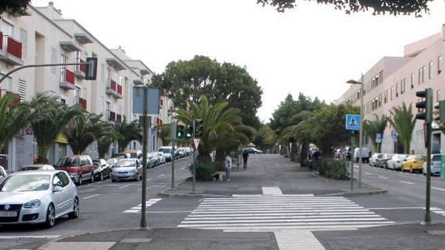 Rambla de Los Majuelos, por donde el Cabildo mantiene el trazado de ampliación de la línea 2 del tranvía en Santa Cruz