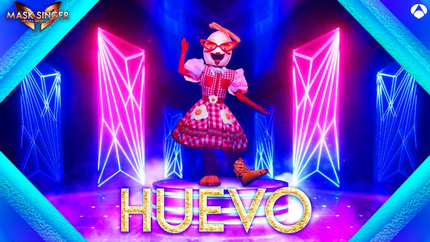 Huevo, una de las máscaras de la segunda edición de 'Mask Singer'