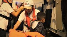 Imagen de uno de los rescates efectuados por el Ocean Viking.