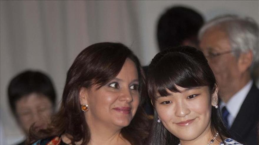 La primera dama de Honduras despide a la princesa Mako de Japón