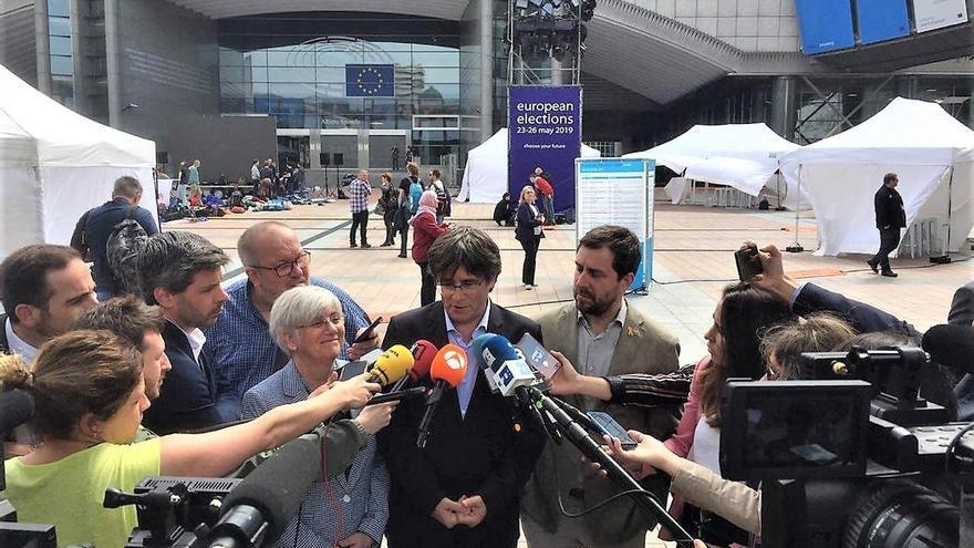 Puigdemont y Comín recurrirán ante el TJUE si la JEC no les proclama eurodiputados