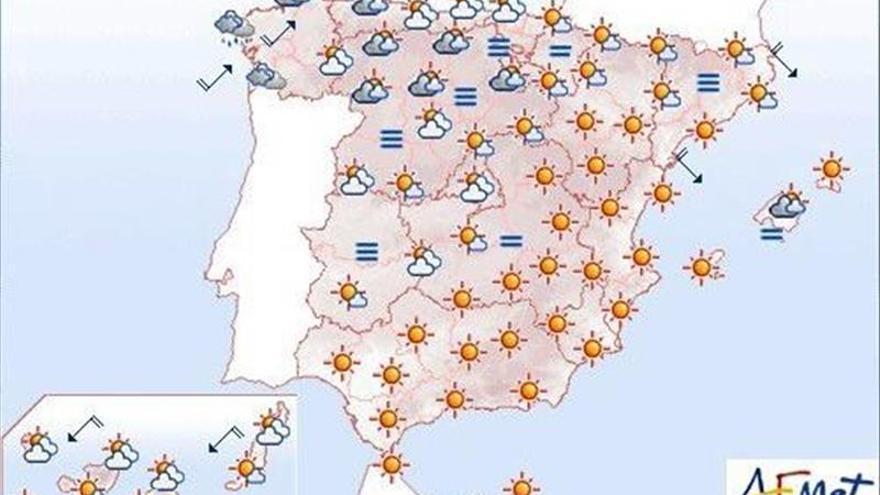 Hoy sube el termómetro por el norte, baja en Canarias e igual en el resto
