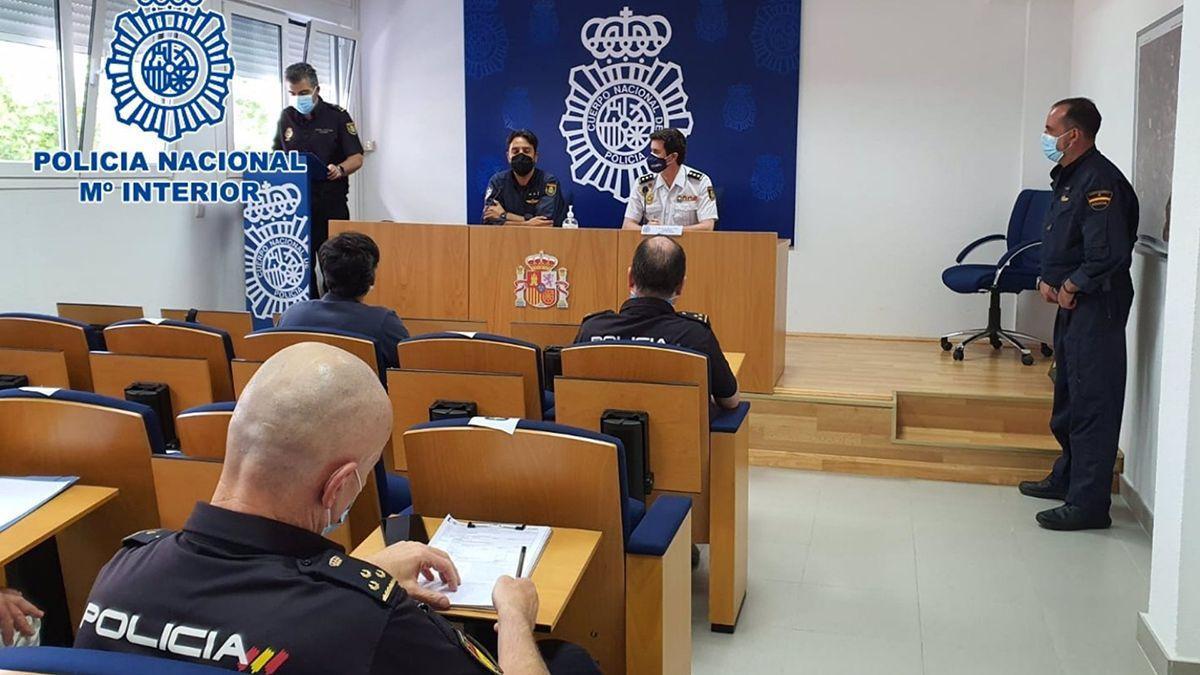 Jornada de formación sobre drones de la Policía Nacional.