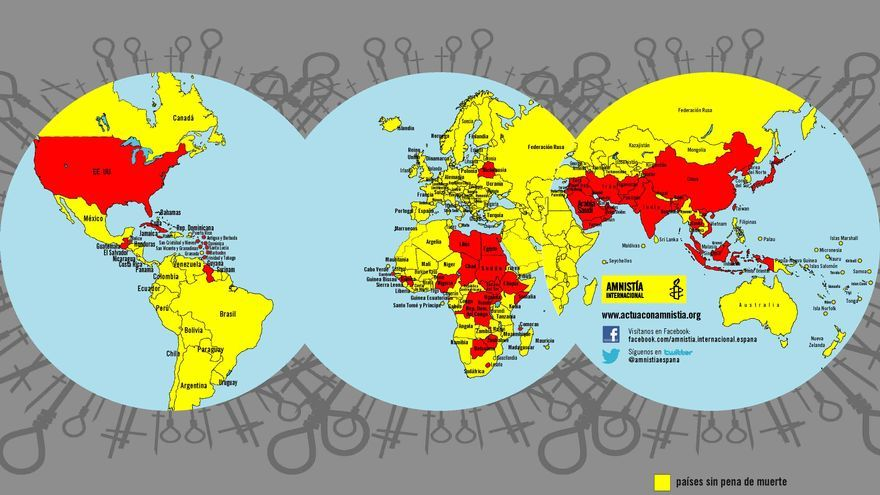 Mapa de la muerte en el mundo © Amnistía Internacional