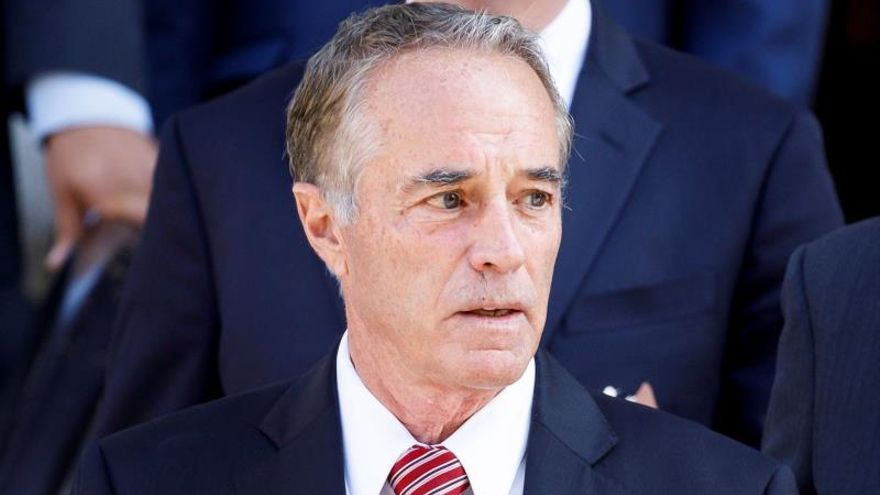 Former United States Congressman Chris Collins leaves the United States Federal Court after pleading guilty to federal securities fraud charges in New York, New York, USA, 01 October 2019.