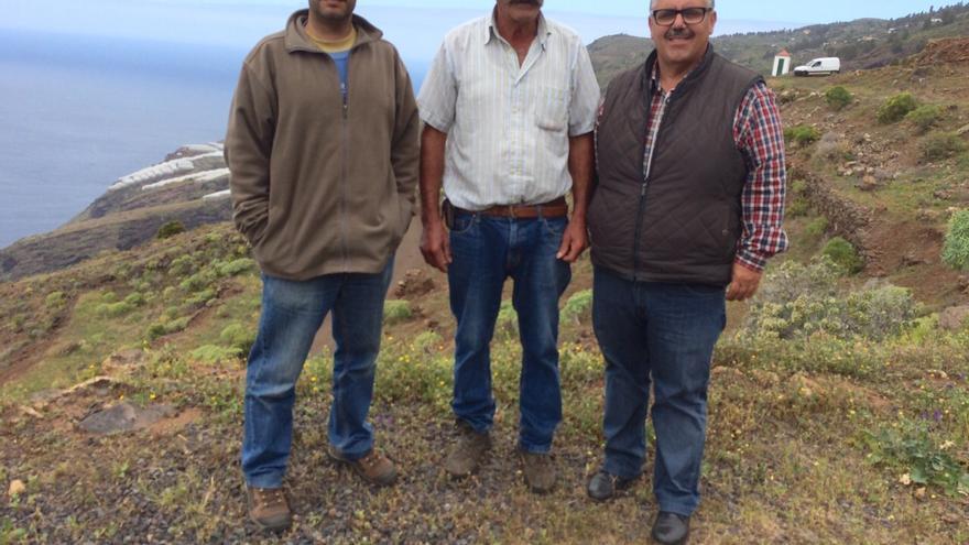 El pastor de cabras Bernabé (centro).