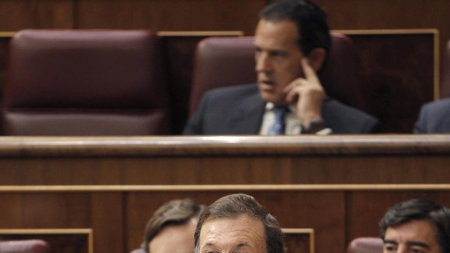 """Rajoy reconoce la """"enorme"""" trayectoria de Aguirre, """"gran activo"""" del PP"""