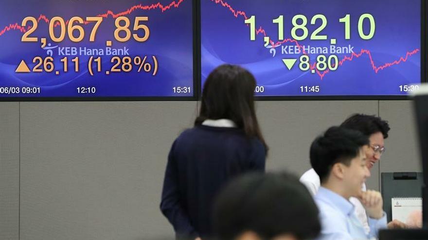 La Bolsa de Seúl cierra a la baja afectada por las tensiones regionales