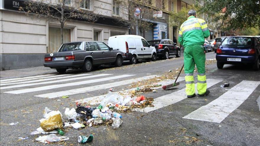 Un empleado de servicios mínimos en la pasada huelga de Madrid