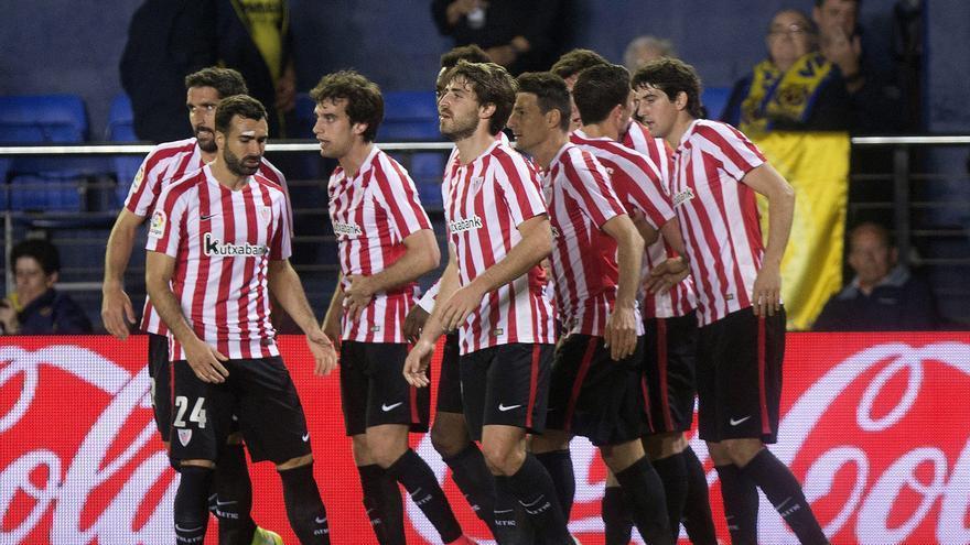Los jugadores del Athletic celebran un gol ante Las Palmas