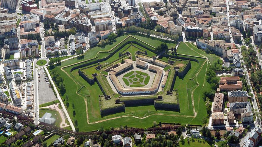Vista aérea de la Ciudadela de Jaca