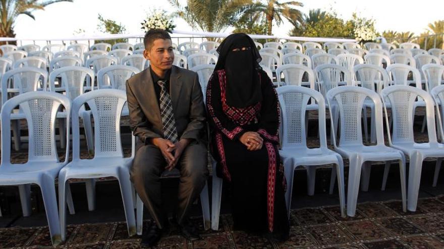 Más de 200 parejas se casan en Jericó en una inusual boda financiada por ANP