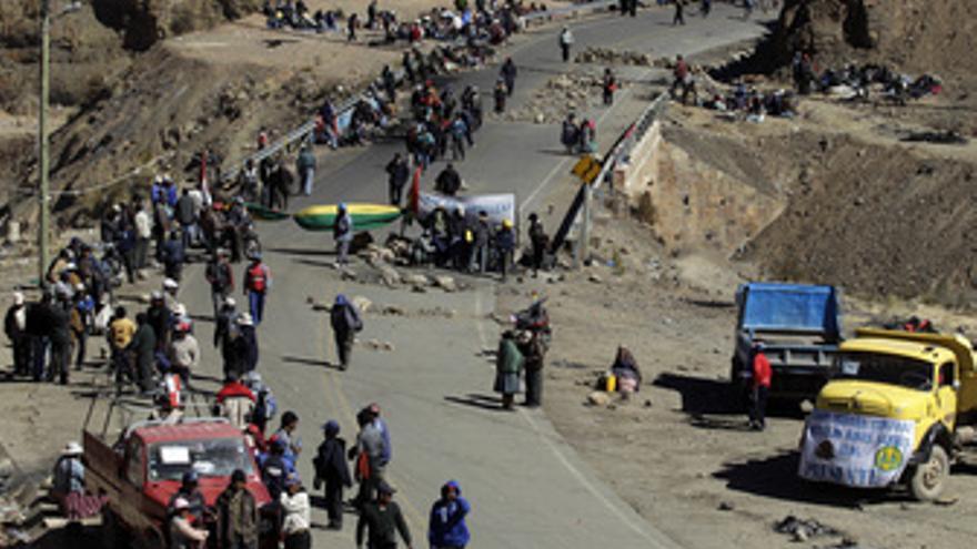 Huelga en la zona minera de Potosí (Bolivia)