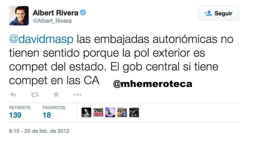Rivera contra las embajadas catalanas 2