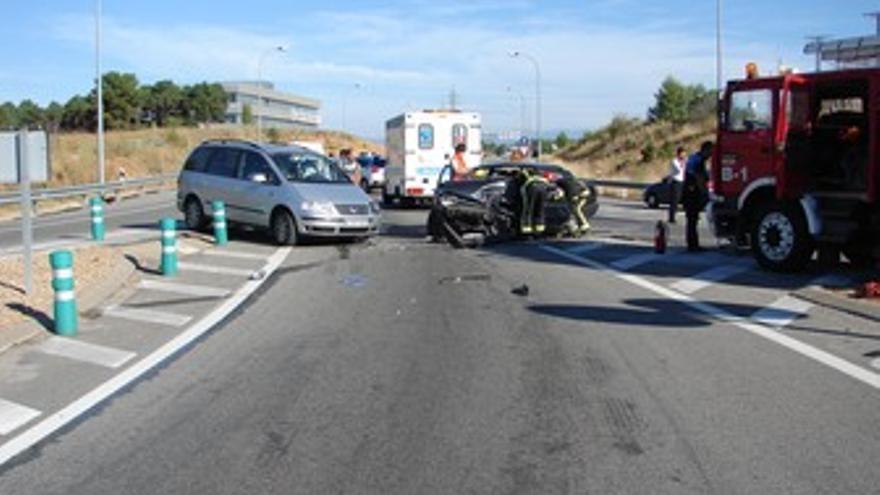 Imagen del estado del vehículo implicado en el accidente