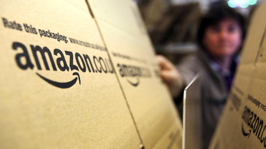 Paquetes de Amazon listos para ser entregados.