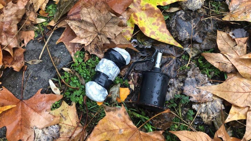 La granada de entrenamiento lanzada al patio del centro de menores de Hortaleza.