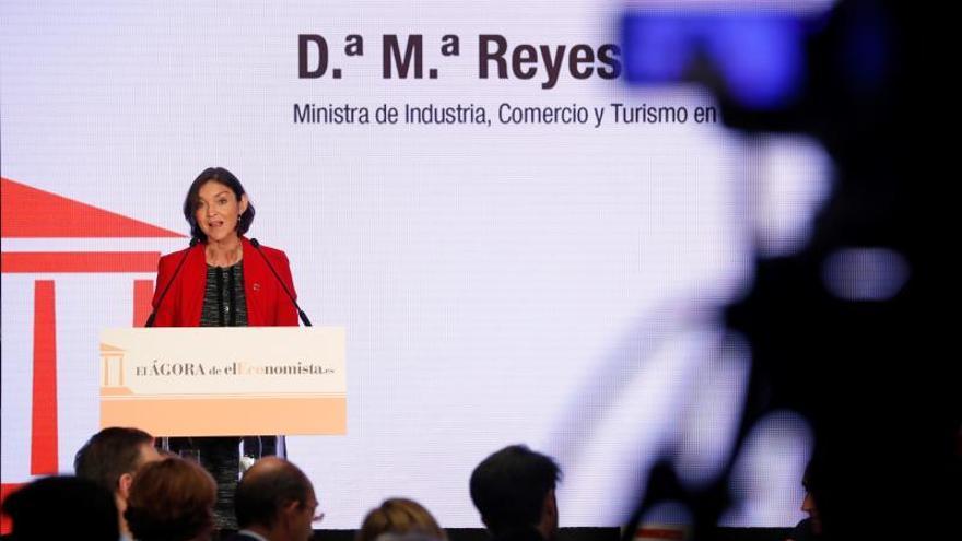 La ministra de Industria, Comercio y Turismo en funciones, Reyes Maroto, interviene este jueves en El Ágora de elEconomista.